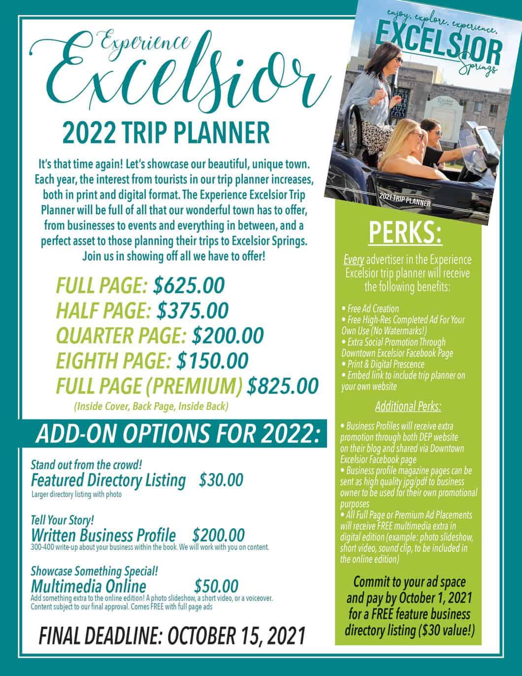 2022 Trip Planner Rates